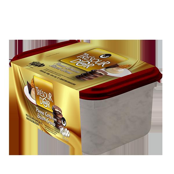 Panna Cotta com Biscotti Crema