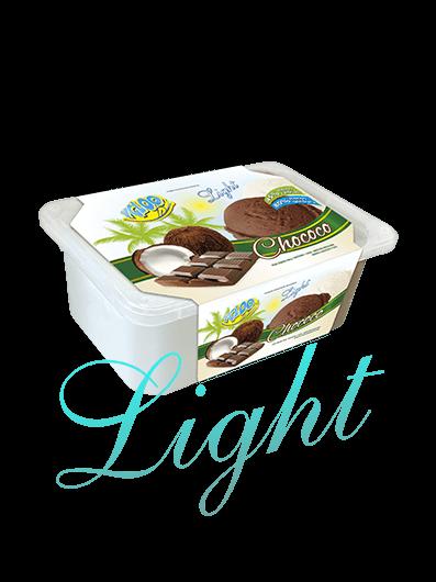 sorvete light de coco