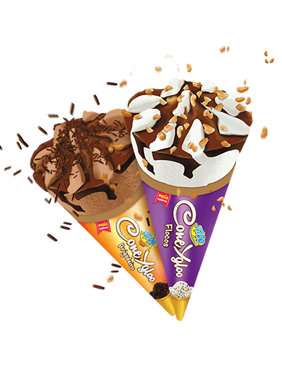 linha de sorvete cono ygloo