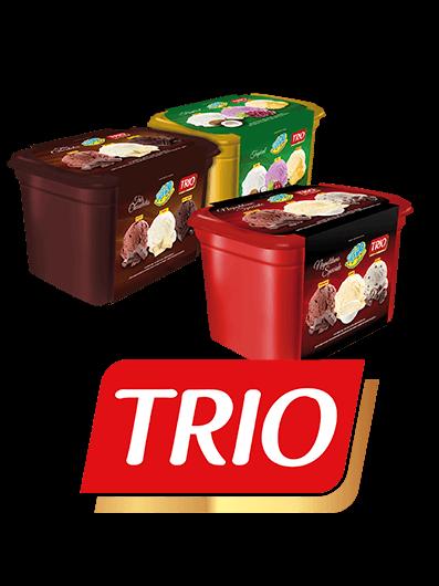linha de sorvete trio